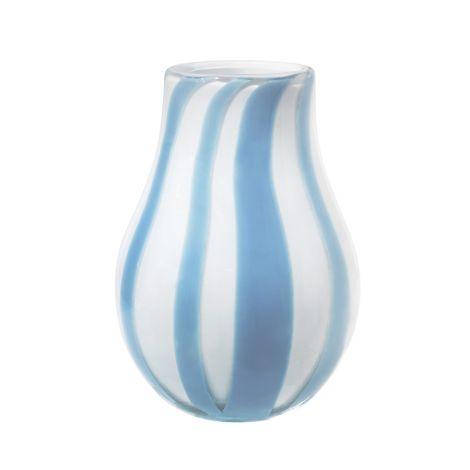 Broste Copenhagen Vase Ada Stripe mundgeblasen Glas Plein Air Light Blue