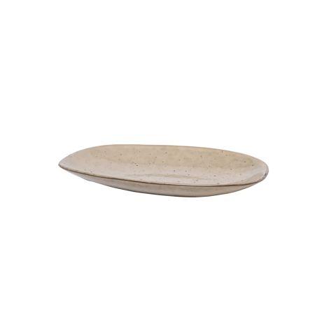 Broste Copenhagen Servierplatte Larni Beige 20 cm