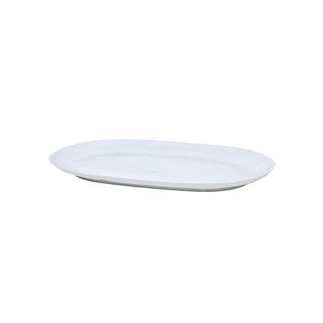 Broste Copenhagen Servierplatte Shape Soft Grey