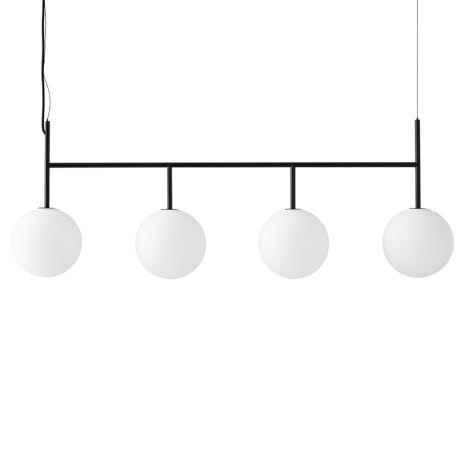 Menu TR Bulb Suspension Frame Hängelampe Black mit mattem Opalglas