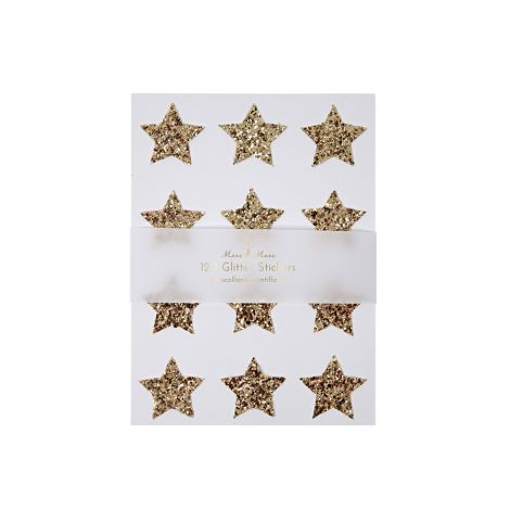Meri Meri Sticker Gold Glitter Star 120 Stk.
