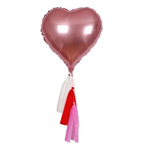 Meri Meri Folienballons Herz 6er-Set •