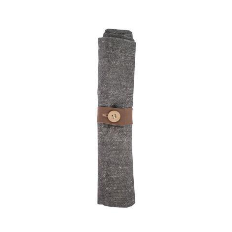 Storefactory Stoffserviette Bodbyn inklusive Serviettenring Grey
