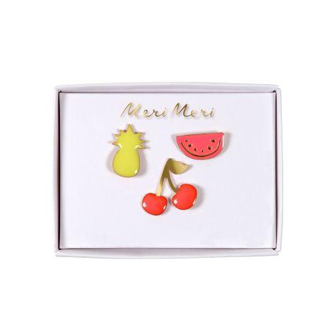 Meri Meri Anstecker Früchte Emaille 3er-Set