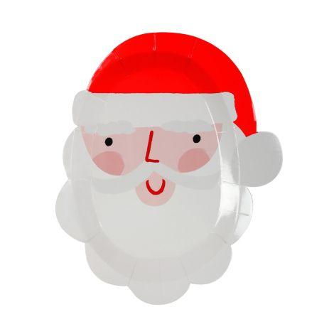 Meri Meri Pappteller Weihnachtsmann 12 Stk.