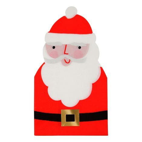 Meri Meri Papierserviette Ausgestanzter Weihnachtsmann 16 Stk.