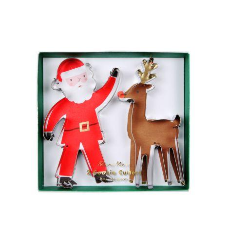 Meri Meri Ausstechformen Weihnachtsmann Rentier 2er-Set