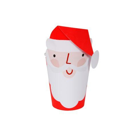 Meri Meri Pappbecher Weihnachtsmann 8 Stk. •