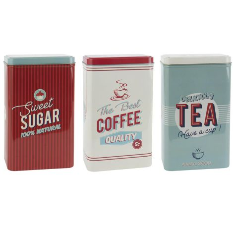 IB LAURSEN Vorratsdose Retro Sugar/Coffee/Tea 3er-Set •