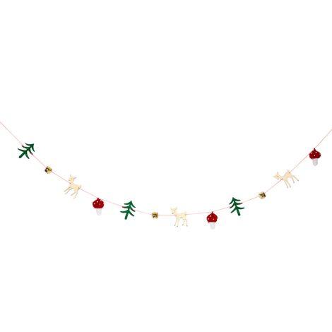 Meri Meri Girlande Weihnachten Wald