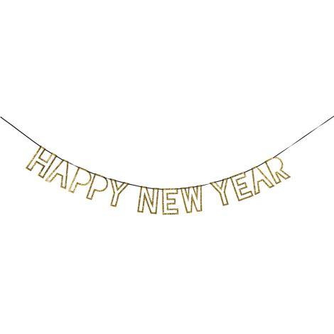 Meri Meri Girlande Happy New Year Gold
