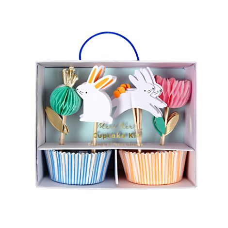 Meri Meri Cupcake-Dekoset Häschen mit Förmchen