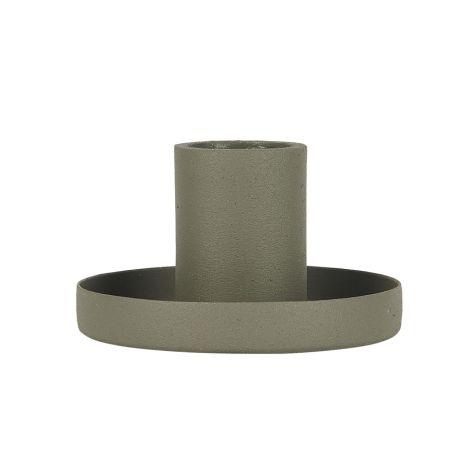 IB LAURSEN Kerzenhalter für Stabkerzen Staubgrün 7 cm