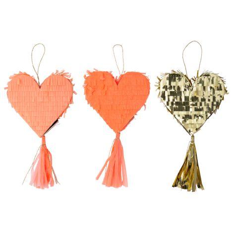 Meri Meri kleine Pinata Herz inklusive Füllung 3er-Set