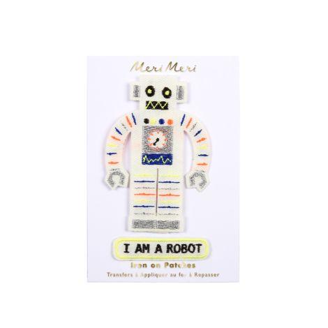 Meri Meri Aufnäher Roboter 2er-Set