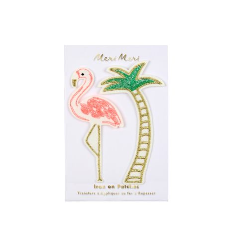 Meri Meri Aufnäher Flamingo Palme 2er-Set