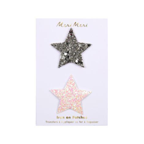 Meri Meri Bügelbild Glitzernde Sterne 2er-Set