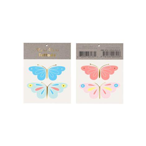 Meri Meri Temporäres Tattoo Neon Butterfly