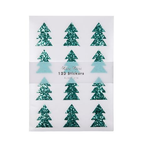 Meri Meri Sticker Green Glitter Tree 120 Stk.