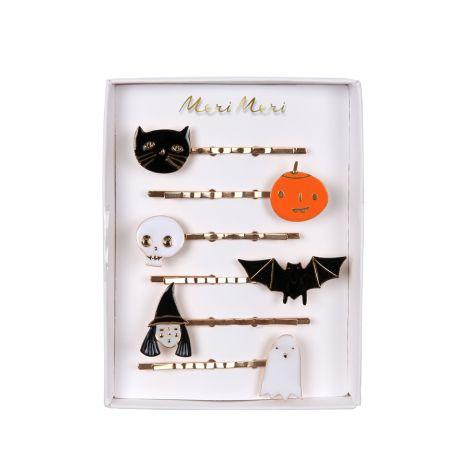 Meri Meri Haarspangen Halloween Emaille 6er-Set