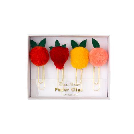 Meri Meri Große Büroklammern Fruit Pom Pom