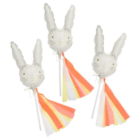 Meri Meri Mini Folienballons Hase 6er-Set