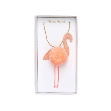 Meri Meri Halskette Flamingo Pompom