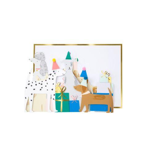 Meri Meri Karte Dog Party Concertina