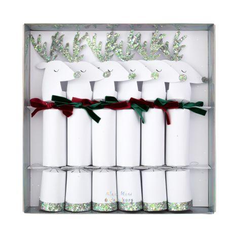 Meri Meri Party-Cracker White Reindeer 6er-Set