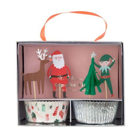 Meri Meri Cupcake-Set Festive Icon 24-teilig