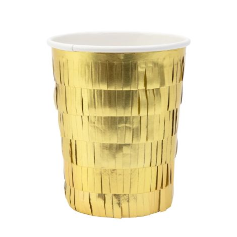 Meri Meri Pappbecher Gold Fringe Party 8 Stk.