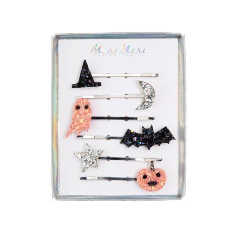 Meri Meri Haarspangen Glitzer Halloween 6er-Set