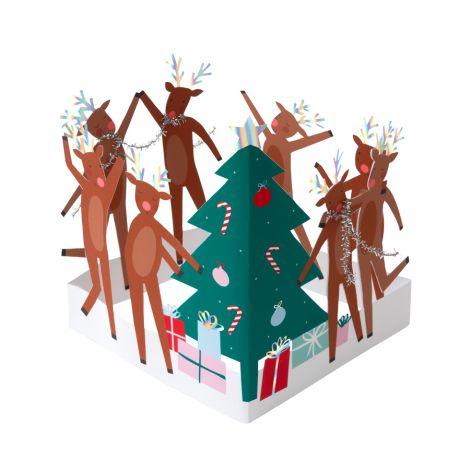 Meri Meri Karte Dancing Reindeer