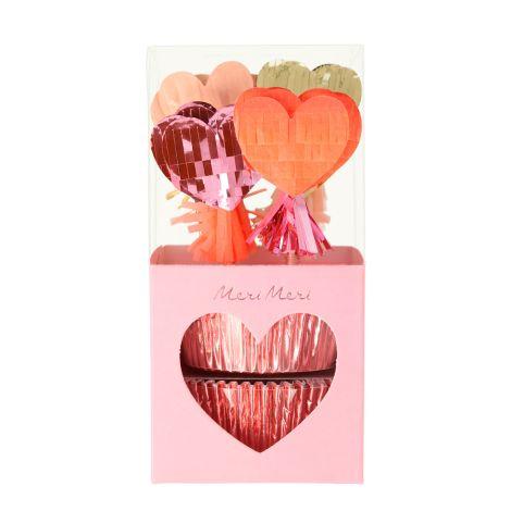 Meri Meri Cupcake-Set Pinata Hearts 24-teilig