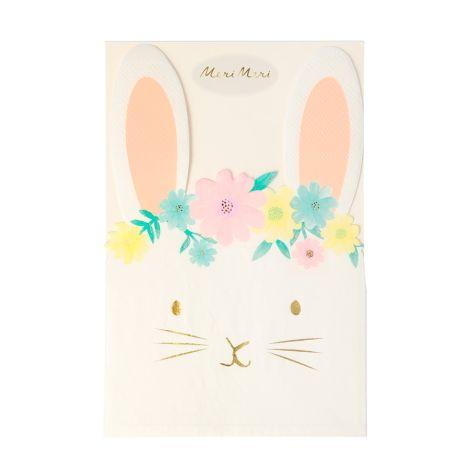 Meri Meri Papierserviette Floral Bunny 16 Stk.