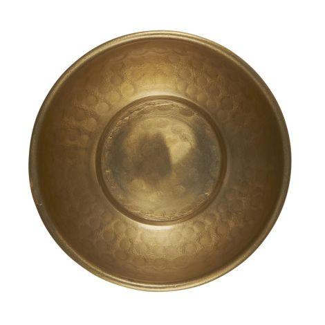 IB LAURSEN Schale mit Hammermuster antikes Messingfinish 10,5 cm