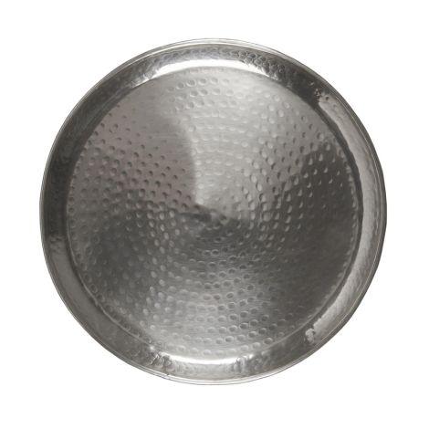 IB LAURSEN Tablett mit Hammermuster antikes Silberfinish 40 cm