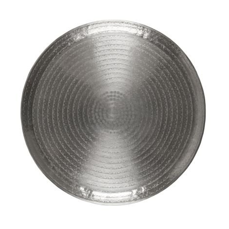 IB LAURSEN Tablett mit Blattmuster antikes Silberfinish 56 cm