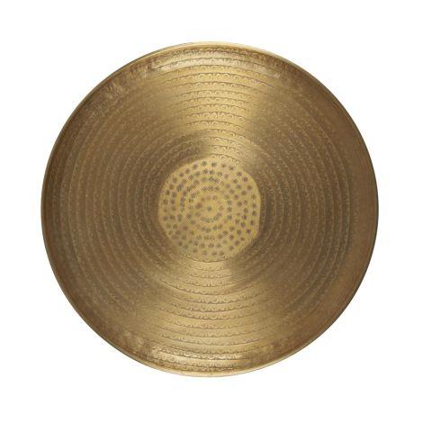 IB LAURSEN Tablett mit Blattmuster antikes Messingfinish 56 cm