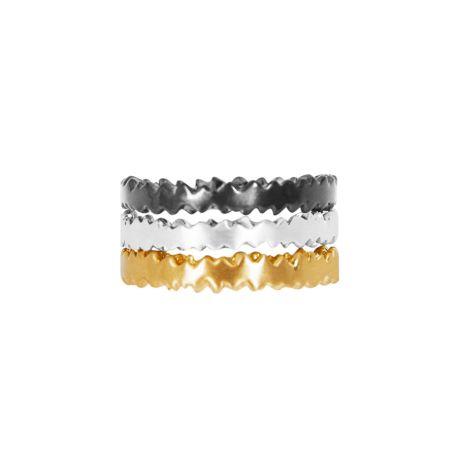 Dansk Smykkekunst Ring Edge Composition 3-farbig beschichtet