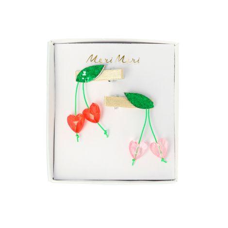Meri Meri Haarspangen Cherry mit Perlen 2er-Set