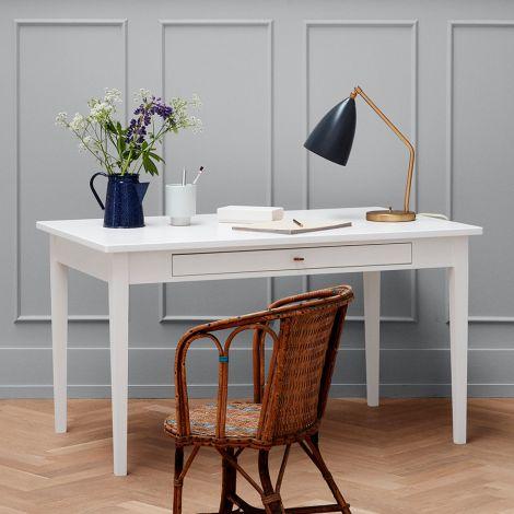 Oliver Furniture Tisch mit Lederband Weiß,H74cm