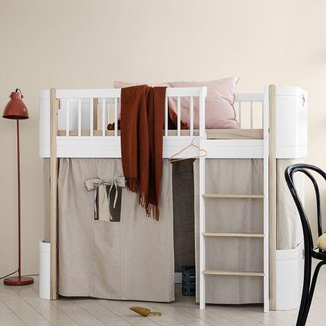 Oliver Furniture Vorhang für halbhohes Hochbett Wood Mini+ Grau