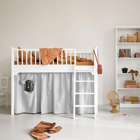 Oliver Furniture Vorhang für halbhohes Hochbett Seaside Grau
