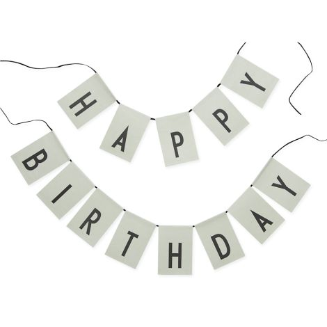 Design Letters Girlande Happy Birthday Green