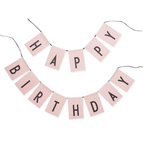 Design Letters Girlande Happy Birthday Pink