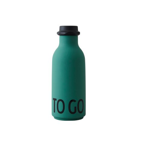 Design Letters Wasserflasche To Go Dark Green •