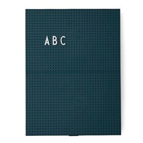 Design Letters Pinnwand Message Board A4 Dark Green •