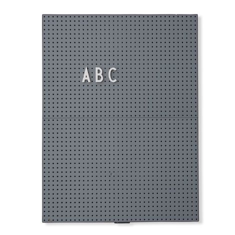 Design Letters Pinnwand Message Board A4 Dark Grey