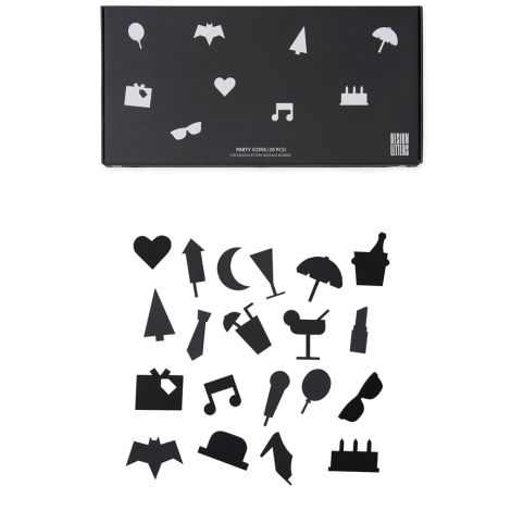Design Letters Symbol-Set Party für Message Board Black •